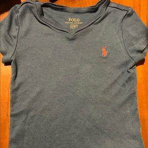 Polo Ralph Lauren Girl's V Neck T-Shirt